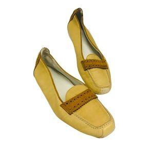MANIA Light Yellow Tan Luxury Leather Loafers